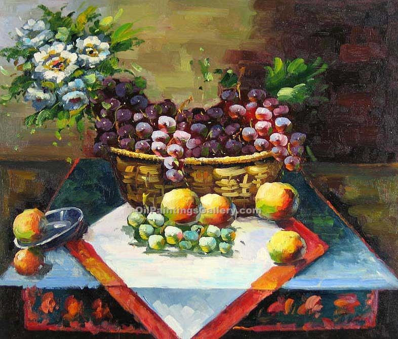 """Fruit and Flowers in a Basket 18"""