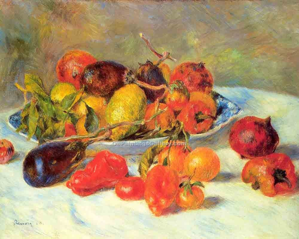 Fruits from the Midi by Pierre Auguste Renoir | Modern Painting Reproductions - Oil Paintings Gallery