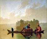 Fur Traders Descending the Missouri River by  George Caleb Bingham (Painting ID: ED-0565-KA)