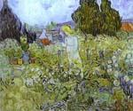 Gachet in her Garden at Auvers Sur Oise by  Vincent Van Gogh (Painting ID: VG-0293-KA)