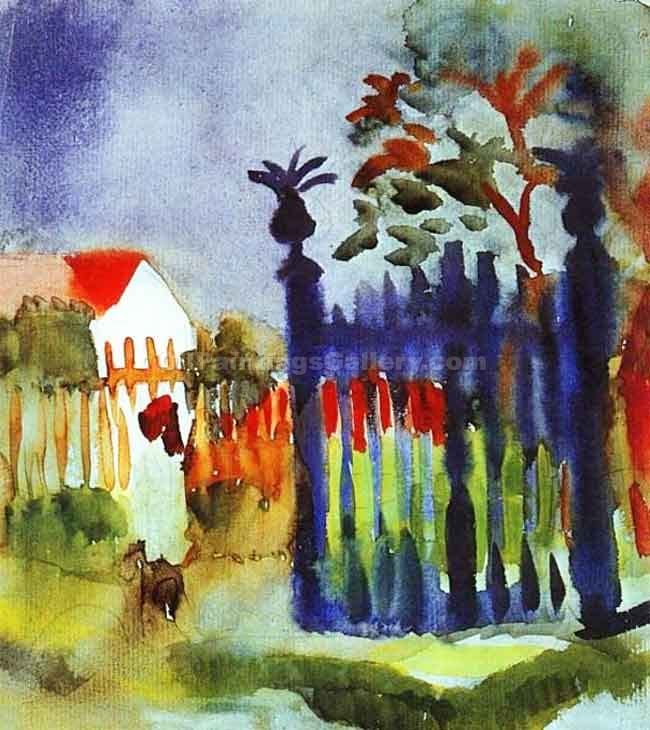 """Garden Gate"" by  August Macke"