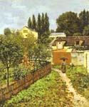 Garden Path in Louveciennes by  Alfred Sisley (Painting ID: LA-0328-KA)