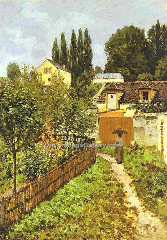 """Garden Path in Louveciennes"" by  Alfred Sisley"