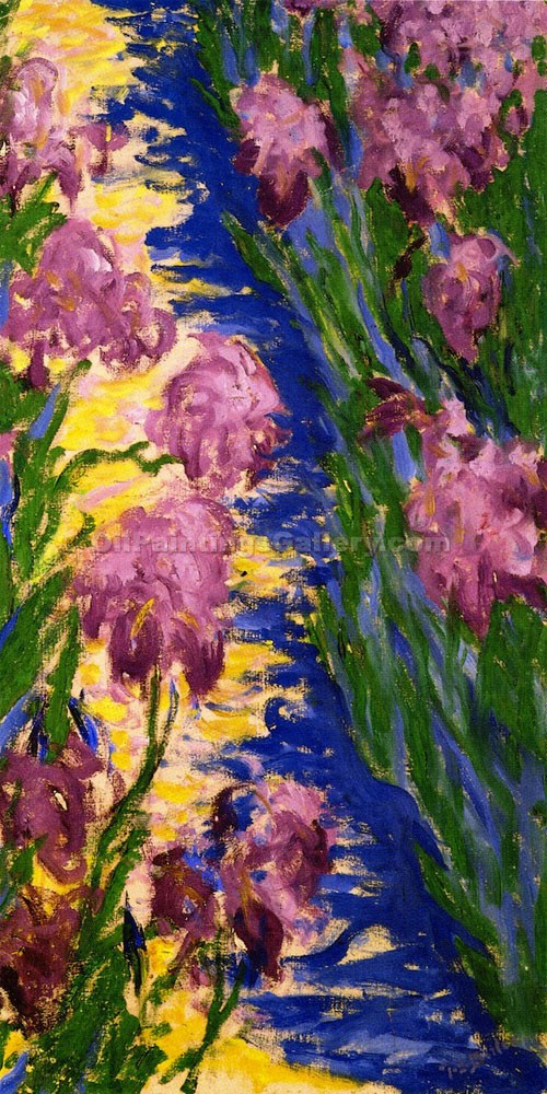 """Garden Path with Irises"" by Theodore Earl Butler"