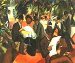 Garden Resturant by  August Macke (Painting ID: EI-0335-KA)