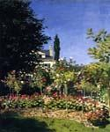 Garden in Flower at Sainte Adresse by  Claude Monet (Painting ID: MO-1189-KA)