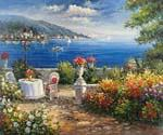 Garden on the Mediterranean 99  (Painting ID: LA-1399-KA)
