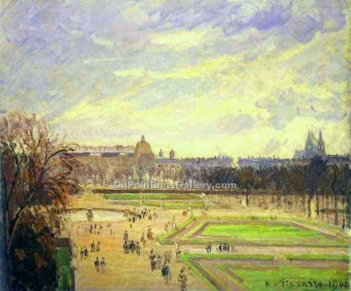 """Gardens of Tuileries"" by  Camille Pissarro"