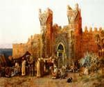 Gate of Shehal Morocco by  Edwin Lord Weeks (Painting ID: GE-1260-KA)