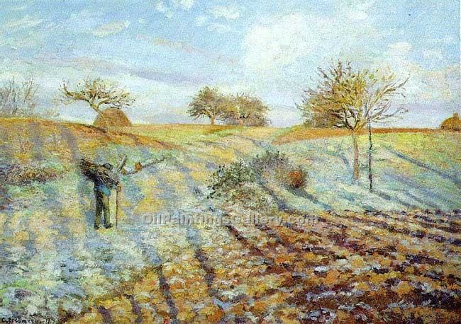Gelee Blanche by Camille Pissarro | Oil Paintings Portraits - Oil Paintings Gallery