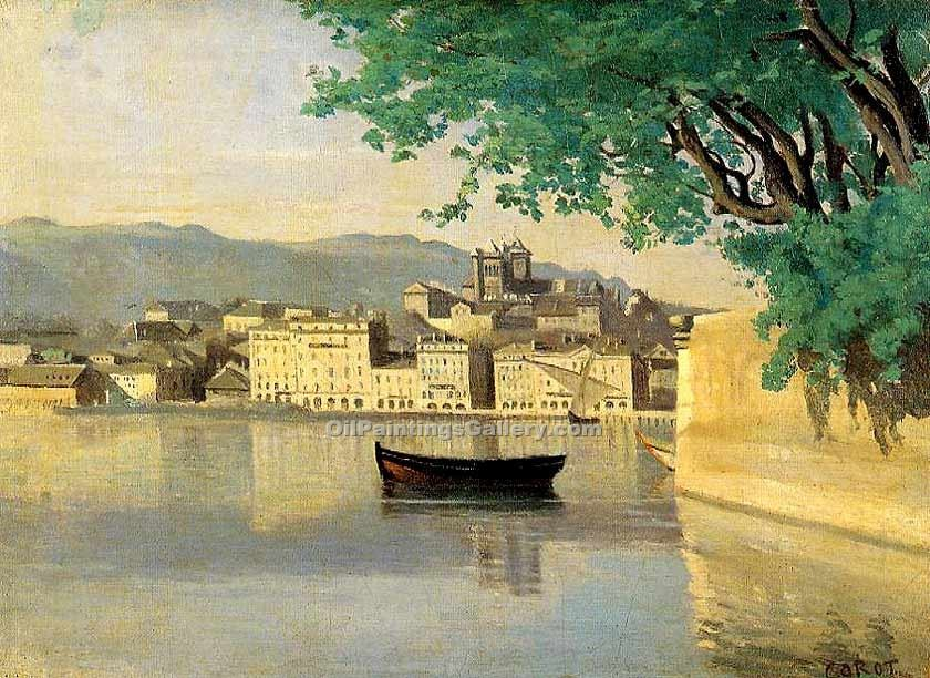 """Geneva View of Part of the City"" by  Jean Baptiste Corot"