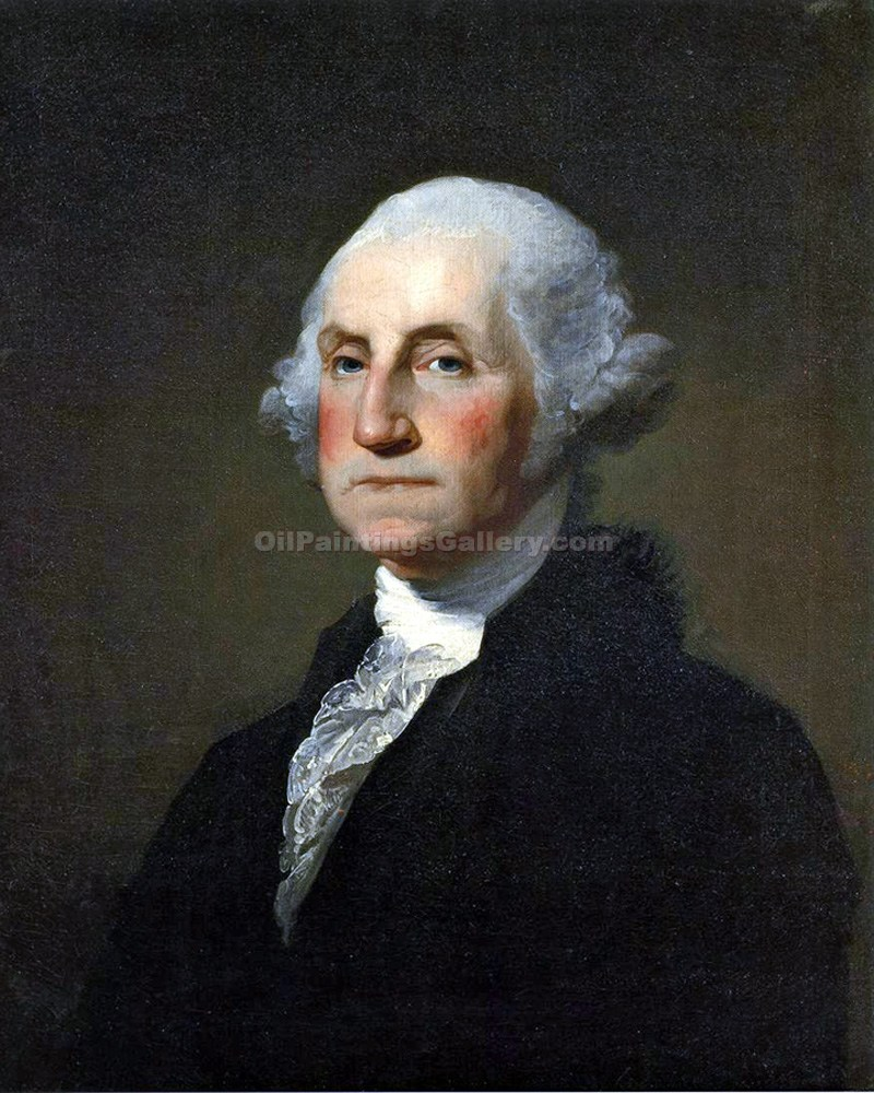 """George Washington, 1st President, Painted by Gilbert Stuart"""