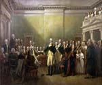 George Washington Resigning his Commission by  John Trumbull (Painting ID: CL-2504-KA)
