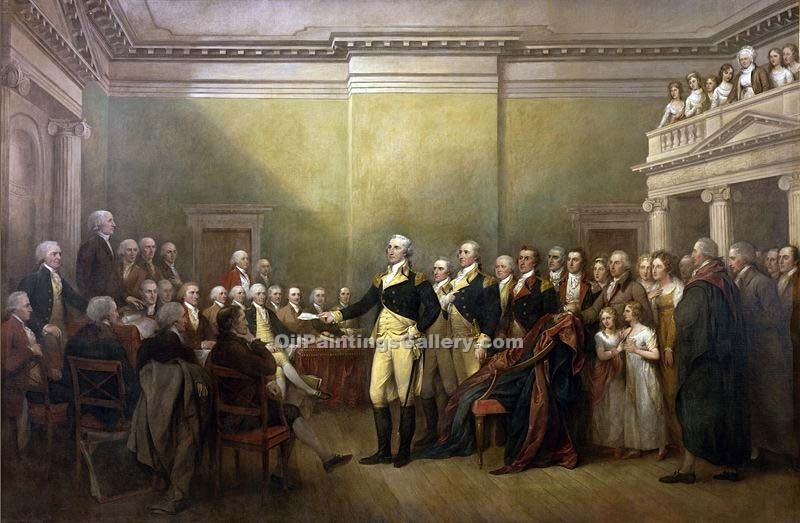 George Washington Resigning his Commission by Trumbull John | Modern Art Paintings - Oil Paintings Gallery