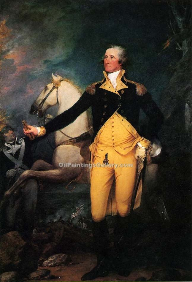 """George Washington before the Battle of Trenton"" by  John Trumbull"
