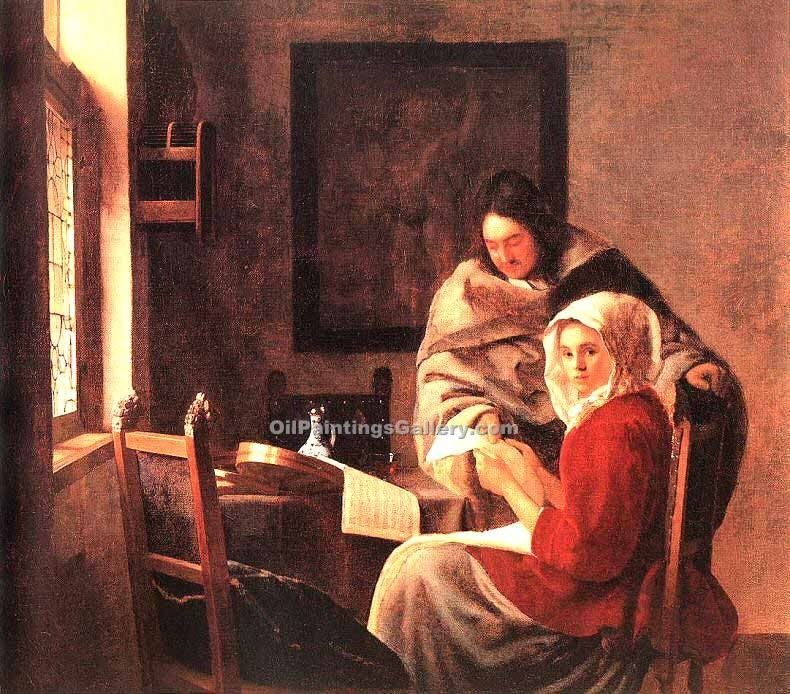"""Girl Interrupted at Her Music"" by  Jan Vermeer"