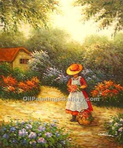 """Girl Picking Flowers"""