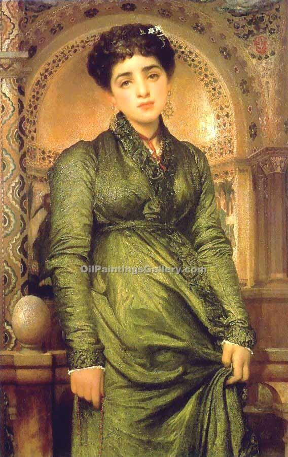 """Girl in Green"" by   Leighton Frederic"