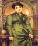 Girl in Green by   Leighton Frederic (Painting ID: CL-2913-KA)