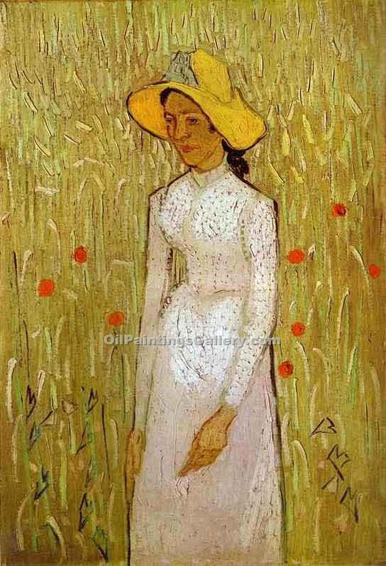 """Girl in White"" by  Vincent Van Gogh"