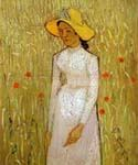 Girl in White by  Vincent Van Gogh (Painting ID: VG-0239-KA)