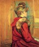 Girl in a Fur, Mademoiselle Jeanne Fontaine by  Henri Toulouse Lautrec (Painting ID: ED-1102-KA)