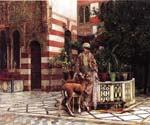 Girl in a Moorish Courtyard by  Edwin Lord Weeks (Painting ID: GE-1268-KA)