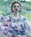 Girl with Flowers by  Robert Reid (Painting ID: ED-0052-KA)