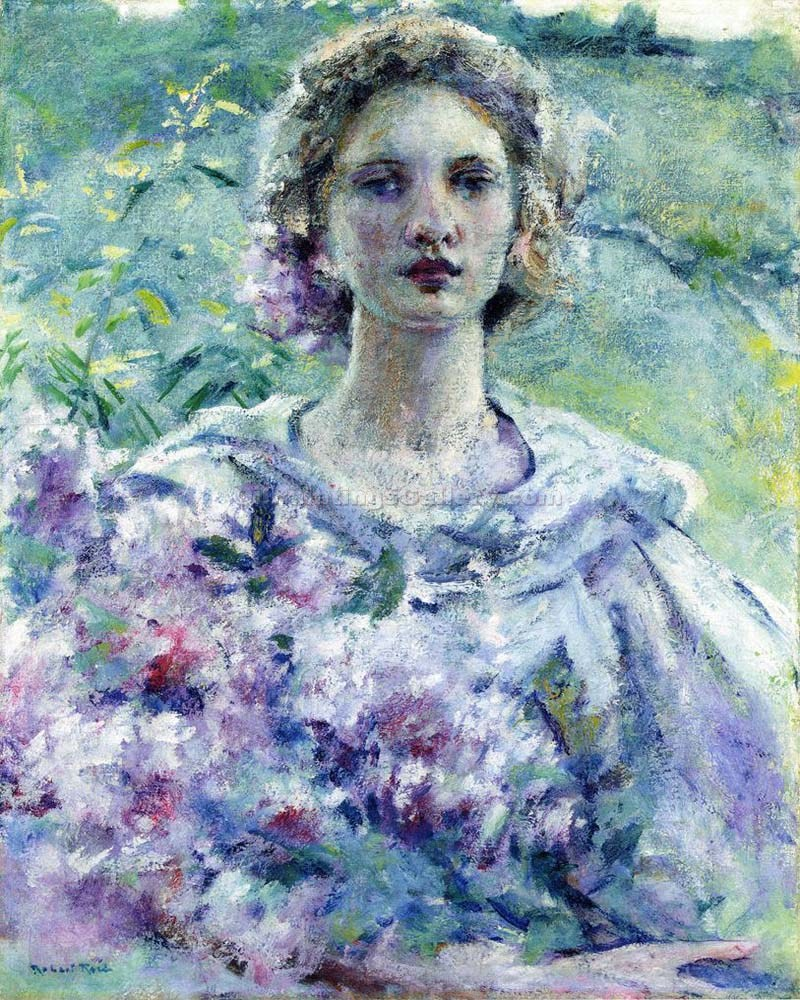 """Girl with Flowers"" by  Robert Reid"