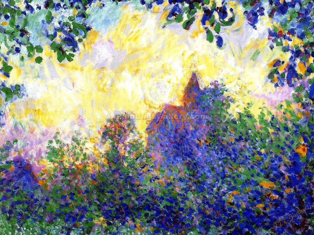 """Giverny Church at Sunset"" by Theodore Earl Butler"