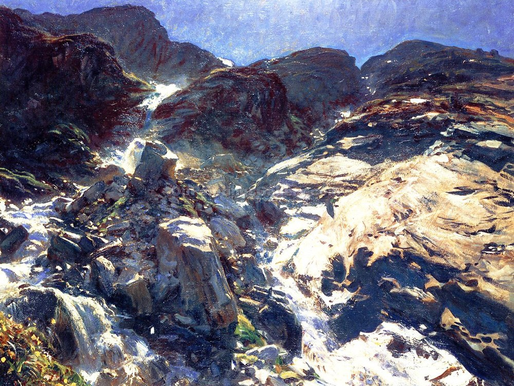 """Glacier Streams"" by  John Singer Sargent"