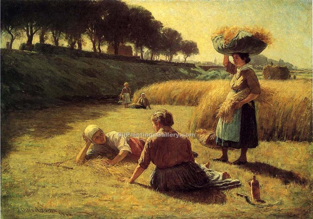 """Gleaners at Rest, Nooning"" by  John Ottis Adams"
