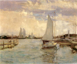 Gloucester Harbor by  John Twachtman (Painting ID: LA-2517-KA)
