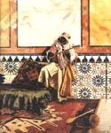 Gnaoua in a North African Interior by  Rudolf Ernst (Painting ID: ER-0120-KA)