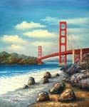 Golden Gate Bridge, San Francisco 39 Oil Painting (ID: CI-3039-A)