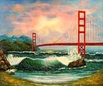 Golden Gate Bridge, San Francisco 42  (Painting ID: CI-3042-KA)