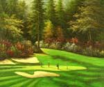 Golf Sunday on The Green Oil Painting (ID: LA-5903-B)