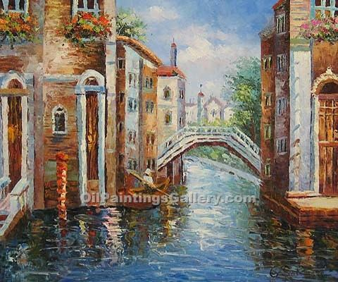 Buy City Oil Paintings Online | Realism & Naturalism styles | Gondola Journey 87