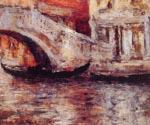 Gondolas Along Venecian Canal by  William Merritt Chase (Painting ID: CI-1648-KA)