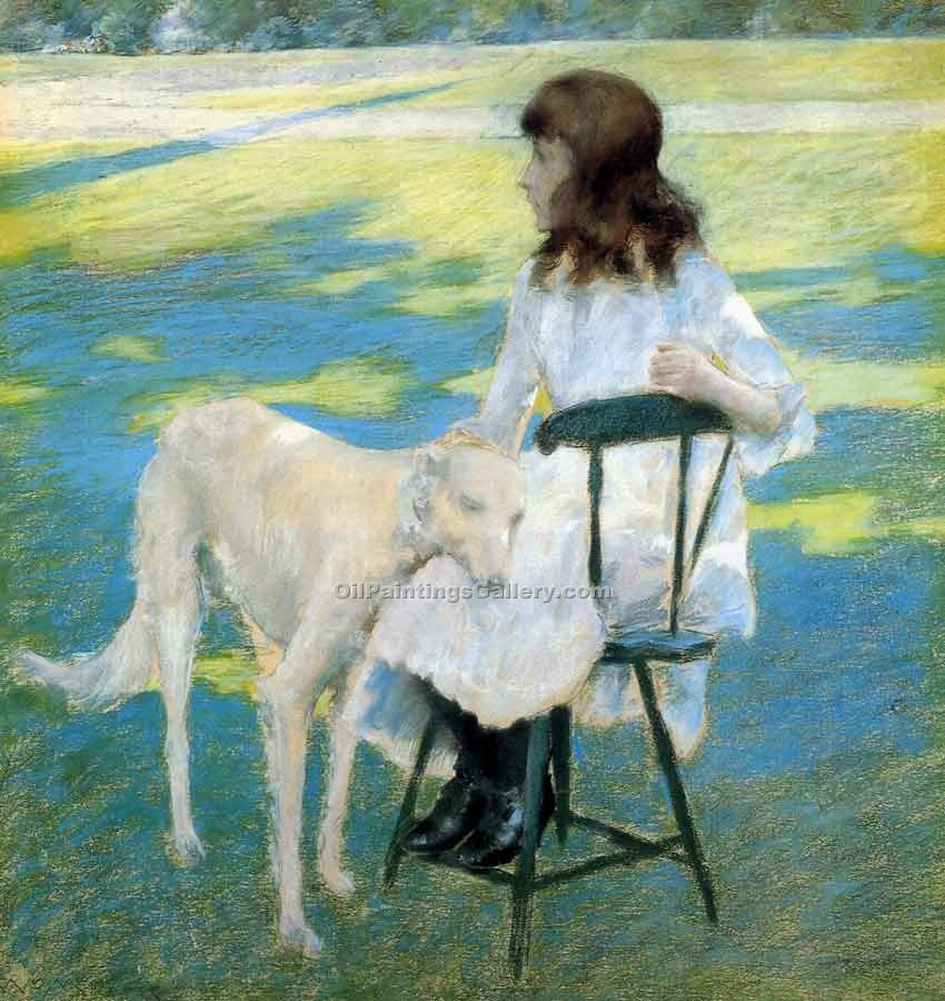 """Good Friends 17"" by  William Merritt Chase"