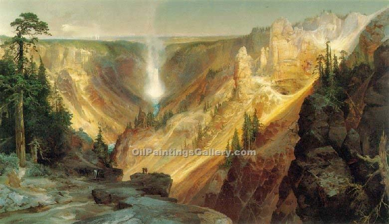"""Grand Canyon of the Yellowstone 20"" by  Thomas Moran"