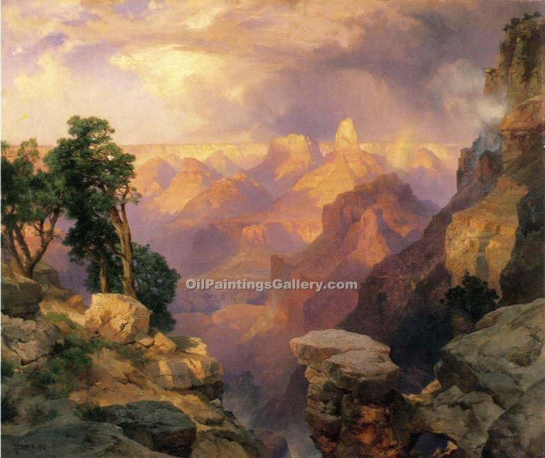 """Grand Canyon of the Yellowstone 24"" by  Thomas Moran"
