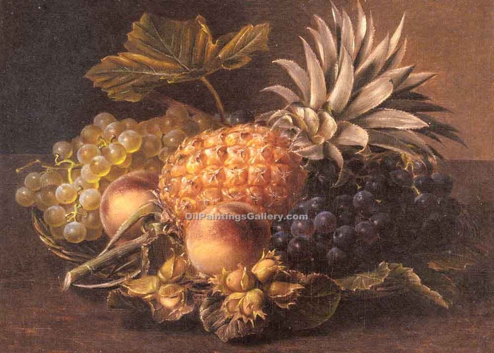 """Grapes a Pineapple Peaches and Hazelnuts"" by  Johan Laurentz Jensen"