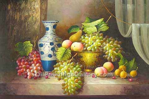 """Grapes and Blue Vase 09"""