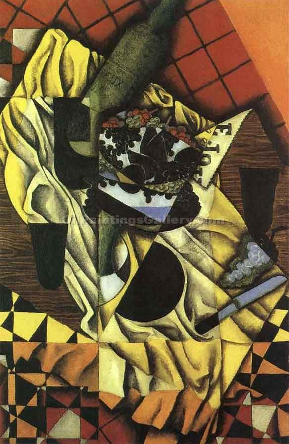 """Grapes and Wine"" by  Juan Gris"