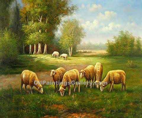 Buy Animal Paintings Online | Realism & Naturalism style Oil Paintings GallerySheep and Goats
