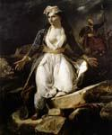 Greece on the Ruins of Missolonghi by  Eugene Delacroix (Painting ID: DA-6960-KA)
