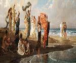 Greek Girls Bathing by  Elihu Vedder (Painting ID: CL-0832-KA)