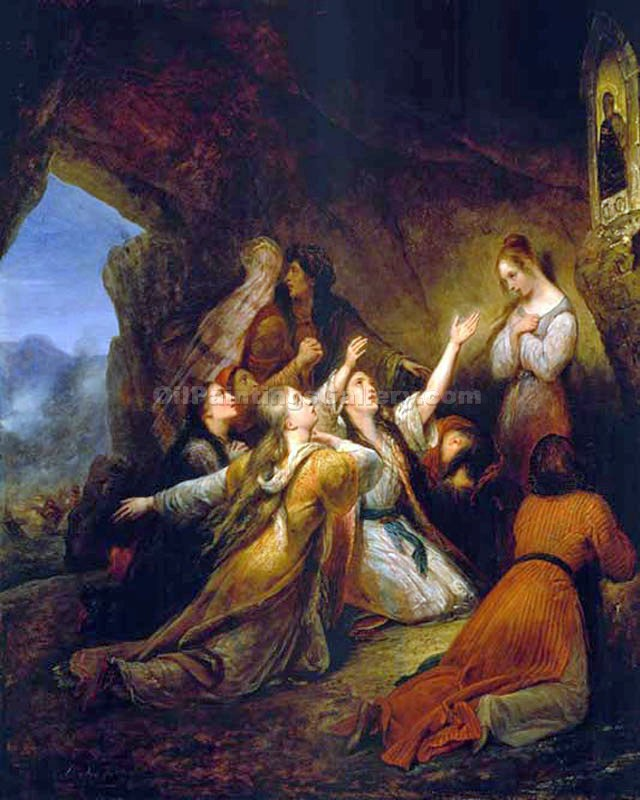 """Greek Women Imploring for Assistance"" by  Ary Scheffer"