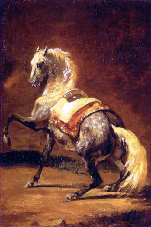 """Grey Dapple Horse"" by  Theodore Gericault"